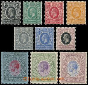 162562 - 1921-22 PROTEKTORÁT, SG.65-74, Jiří V. 1c-5R; kompletní séri