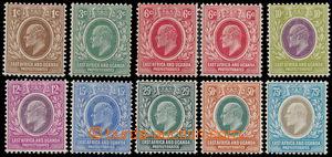162565 - 1907-8 PROTEKTORÁT, SG.34-42,  Edvard VII. 1c-75c; kompletní