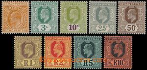 162686 - 1910 SG.292-300, Edvard VII., kompletní série 9 hodnot s prů