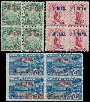 162689 - 1903 AITUTAKI  SG.1-3, přetisk na zn. Nového Zélandu, komple