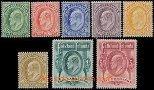 162693 - 1904 SG.43-50, Edvard VII., kompletní série 8 hodnot, pouze