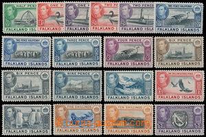 162834 - 1938 SG.146-163, George VI., Místní motivy, kompletní série