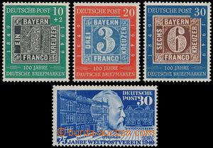 163253 - 1949 Mi.113-115, 100 let německých známek + Mi.116, 75 let U