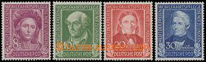 163254 - 1949 Mi.117-120, Pomocníci lidstva I., kompletní série, kat.