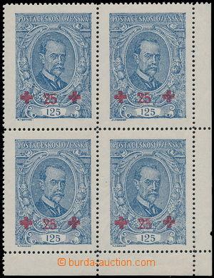 163426 -  Pof.172 ST, Masaryk 125 + 25h modrá, pravý dolní rohový 4-b