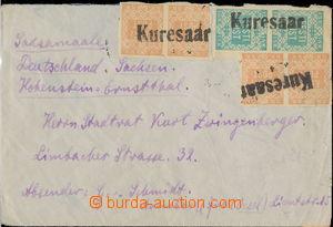 163582 - 1918 dopis do Saska vyfr. zn. Mi.1B (4x), 2 (2x), 2x 2-páska