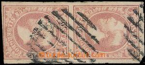 163644 - 1852 Mi.2, Vilém III. 1Sgr hnědočervená, svislá 2-páska; dol