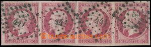 163645 - 1853 Mi.16a, Napoleon III. 80C, vodorovná 4-páska; při odděl