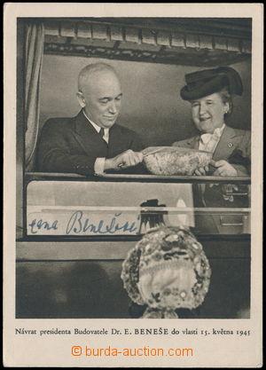 163806 - 1945 BENEŠOVÁ Hana (1885–1974), manželka prezidenta Beneše,