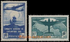 164032 - 1936 Mi.326-327, 100. přelet oceánu 1,50Fr a 10Fr; oblíbená