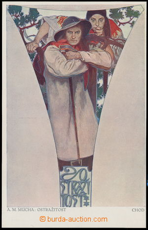164098 - 1916 MUCHA Alfons (1860–1939), Fresky - Obecní dům, Ostražit