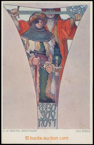 164100 - 1916 MUCHA Alfons (1860–1939), Fresky - Obecní dům, Bojovnos