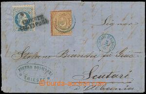 164371 - 1870 TURECKO  skládaný dopis do Albánie, vyfr. zn. VI. emise