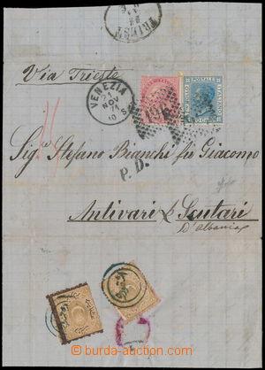 164372 - 1871 TURECKO  skládaný dopis do Albánie, vyfr. zn. Viktor Em