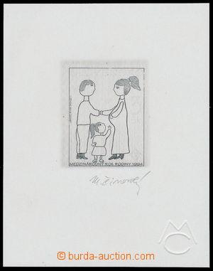 164499 - 1994 ZT  Zsf.27, Mezinárodní rok rodiny, zkusmý tisk na líst