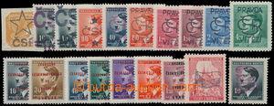 164522 - 1944-45 sestava 19ks protektorátní známek s revolučními přet