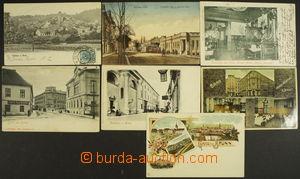 164638 - 1890-1915 BRNO  sestava 7ks zajímavých pohlednic centra jako