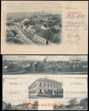 164640 - 1900-11 VLASATICE, ŽELEŠICE  sestava 2ks pohlednic okresu Br