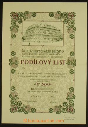 164687 - 1925 ČSR  podílový list Stavební družstvo Švehlovy domy s ho