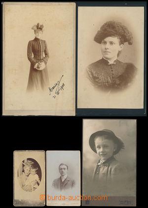 164719 - 1874-1910 FOURS - WALDERODE  sestava 5 kabinetních fotografi