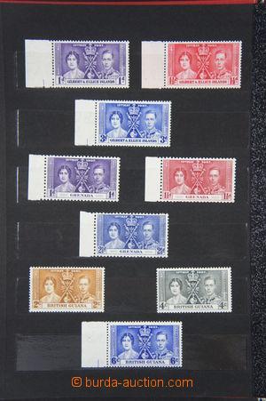 164788 - 1937 [SBÍRKY]  Korunovace Jiří VI., omnibus; nekompletní, 14