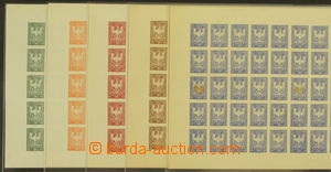 164815 - 1945 OLOMOUC, revoluční vydání známek s přemyslovskou orlicí