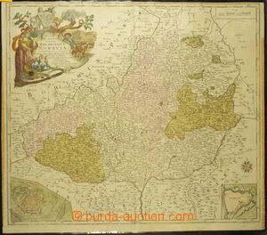 165167 - 1758 MAPA MARKRABSTVÍ MORAVSKÉHO, barevná, autor německý ryt