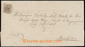 165331 - 1851 MUNKÁCS  skládaný dopis se zn. I. emise 6Kr, Mi.4, I. t
