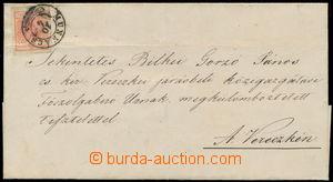 165332 - 1854 MUNKÁCS  skládaný dopis se zn. I. emise 3Kr, Mi.3, HP,