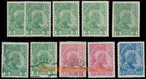165708 - 1912 Mi.1-3, Johann II., sestava 10ks, mj. 5H nezoubkovaná,