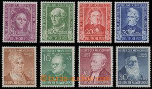 165739 - 1949-52 Mi.117-120, 156-159, Pomocníci lidstva I. + III; 2 k