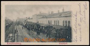 165867 - 1905 BŘECLAV - miniaturní pohlednice, nádraží, prošlá, bez p