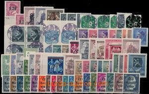 165878 - 1945 zajímavá sestava cca 70ks známek s revolučními přetisky