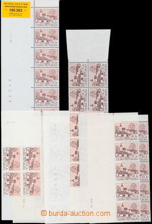 166363 - 1995 Pof.70, Venkovská architektura 40h, sestava 6ks pásek a