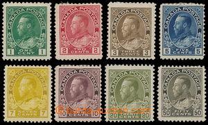166429 - 1911-222 SG.196-215, Jiří V. 1c-50c; kompletní základní séri