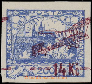 166500 -  Pof.L1 VV, hodnota 14Kč/200h modrá s výrazným posunem přeti