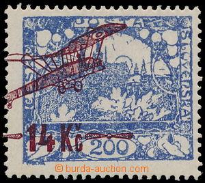 166502 -  Pof.L1B, hodnota 14Kč/200h modrá s výrazným posunem přetisk