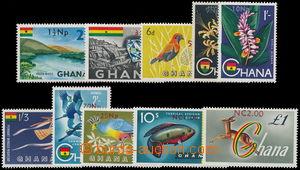 166566 - 1967 SG.445-454, Motivy s přetiskem nové měny; kompletní sér