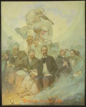 166636 - 1929 MUCHA Alfons (1860–1939) - Hudební pantheon - plakát, p