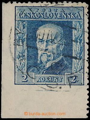 166651 - 1925 Pof.191A I P4, Rytina 2Kč modrá, I. typ, s vynechanou p