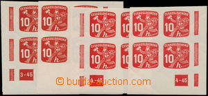 166656 - 1945 Pof.NV24, Newspaper stamps 10h red, 2x R and L lower co
