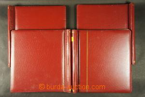 166697 -  sestava 4ks pérových desek Schaubek v červené barvě; dobrý