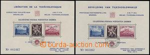 166709 - 1945 Exilové vydání, Lidické aršíky Belgie, AS14 + AS15, 2ks