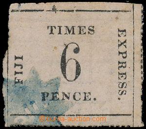 166781 - 1870 SG.3, Times Express 6P černá na růžovém quadrillé papír