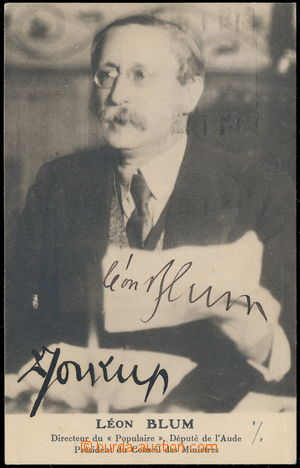 166831 - 1937 BLUM León (1872-1950), francouzský levicový politik a n