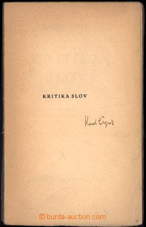 166910 - 1927? ČAPEK Karel (1890-1938), český spisovatel, novinář, dr