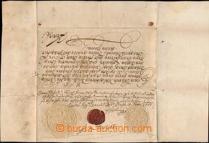 166935 - 1685 ŘÁD MALTÉZSKÝCH RYTÍŘŮ  posélací list (missiv) zaslaný