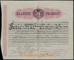 166994 - 1906 RAKOUSKO-UHERSKO  promesa s náhradou 350K vydaná Živ