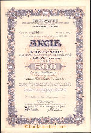 167002 - 1920 ČSR I.  sestava 12ks akcií v hodnotě 500Kč společn