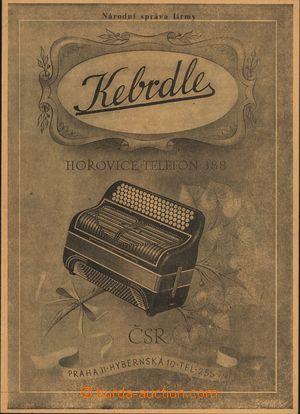 167003 - 1945 ČSR II.  reklamní dvojlist výrobce harmonik a heligonek